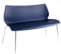contemporary commercial upholstered bench by Vico Magistretti MAUI Kartell