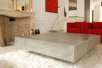 contemporary concrete coffee table CTZEN GALERIE TAPORO