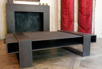 contemporary concrete coffee table SQKUB CROCO GALERIE TAPORO