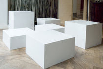 contemporary concrete coffee table MANHATTAN  GALERIE TAPORO