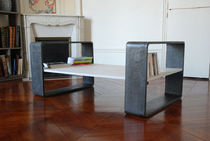 contemporary concrete coffee table SPACE KUB  GALERIE TAPORO