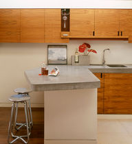 contemporary concrete kitchen  LOW INFO