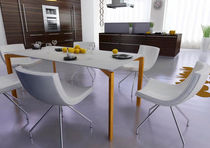 contemporary concrete table EDGE LOW INFO