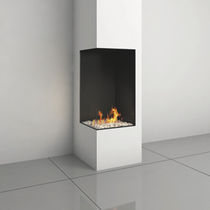 contemporary corner fireplace (gas closed hearth) CLEAR 40H RS/LS Ortal USA