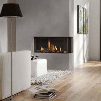 contemporary corner fireplace (gas closed hearth) BIDORE 95 Element4 B.V.
