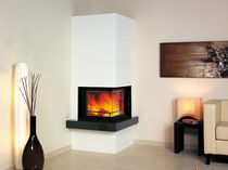 contemporary corner fireplace (wood-burning closed hearth) STUDIO 10.45.10.0 Hark GmbH & Co. KG