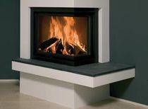 contemporary corner fireplace (wood-burning closed hearth) KAL-FIRE HEAT 62-51 HOEK Kal-fire