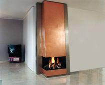 contemporary corner fireplace (wood-burning open hearth) CM 011 BLOCH DESIGN