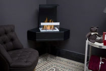 contemporary corner fireplace (bioethanol open hearth) BYALA Bio-Blaze