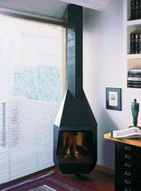 contemporary corner fireplace (wood-burning closed hearth) CERDANYA 91 by Milá, Leopoldo  DAE