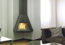 contemporary corner fireplace (wood-burning closed hearth) ARION Traforart