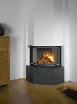contemporary corner fireplace (wood-burning closed hearth , retractable door) ESCAMO 300 Barbas