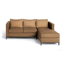 contemporary corner sofa DISTRICT 02 CALVIN KLEIN HOME