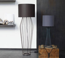 contemporary cotton floor lamp ROMEO & JULIA by Helmut Bovensmann ROLF BENZ