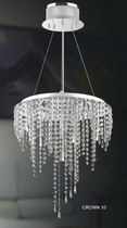 contemporary crystal pendant lamp CROWN 10 UNITED LIGHTS