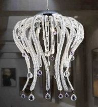 contemporary crystal pendant lamp LE OCTOPUS 9 UNITED LIGHTS