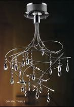 contemporary crystal pendant lamp CRYSTAL TWIRL 8 UNITED LIGHTS
