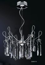 contemporary crystal pendant lamp DIAN 10P UNITED LIGHTS