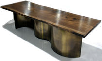 contemporary dining table in wood and metal 0030.4 JOHN HOUSHMAND