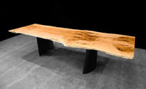 contemporary dining table in wood and metal 0186 JOHN HOUSHMAND