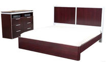 contemporary double bed FUSION W LEDA Furniture
