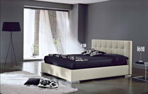 contemporary double bed upholstered in leather SI-MPIZ Signature Home Collection