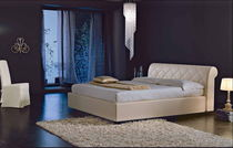 contemporary double bed upholstered in leather SI-MARI Signature Home Collection