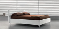 contemporary double bed upholstered in leather WAVE noctis