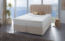 contemporary double bed with casters TEMPSMART : CORONATION Dunlopillo