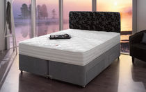 contemporary double bed with casters TEMPSMART : MEMOIR Dunlopillo