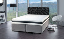 contemporary double bed with casters TEMPSMART : MODERNO Dunlopillo