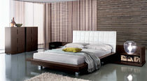 contemporary double bed with headboard upholstered in leather MAXIM : WEB  Mobilificio Florida