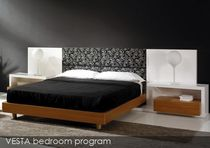 contemporary double bed with integrated bed-side table  ALBA RUBIO