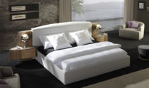 contemporary double bed with integrated bed-side table AM&Oacute;N Planum, Inc.