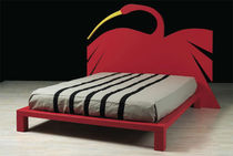 contemporary double bed AIRONE by Fabio De Poli MIRABILI Arte d'Abitare