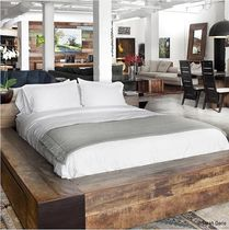 contemporary double bed in certified wood (FSC-certified) EDGE environment furniture