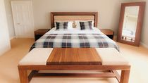 contemporary double bed in certified wood (FSC-certified)  Norfolk Oak Ltd