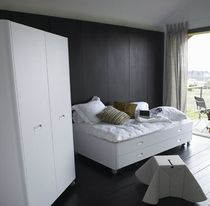 contemporary double bed with casters TRAVEL STUDIO Ligne Roset France