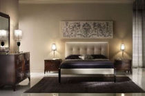 contemporary double bed with headboard upholstered in leather FLY PLATINO : F911/D ARTE BROTTO