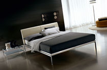contemporary double bed with headboard upholstered in leather DORIAN Ciacci Kreaty