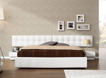contemporary double bed with integrated bed-side table AIRE 240 GRUPO CONFORTEC