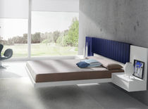 contemporary double bed with integrated bed-side table AERO  ANTAIX