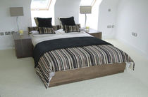 contemporary double bed with integrated bed-side table  HB Group