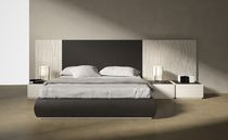 contemporary double bed with integrated bed-side table THE WALL mazzali spa