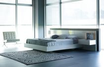 contemporary double bed with integrated bed-side table AIR-CAC3 Kallmar