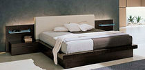 contemporary double bed with integrated bed-side table STELLA e