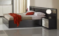 contemporary double bed with integrated bed-side table LORY FPM