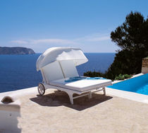 contemporary double garden sun lounger with casters RIVIERA TRICONFORT