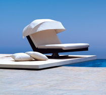 contemporary double garden sun lounger BIARRITZ by Jorge Pensi TRICONFORT