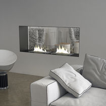 contemporary double-sided fireplace (bioethanol open hearth) INCASSO 125B, Biocamino MAISONFIRE